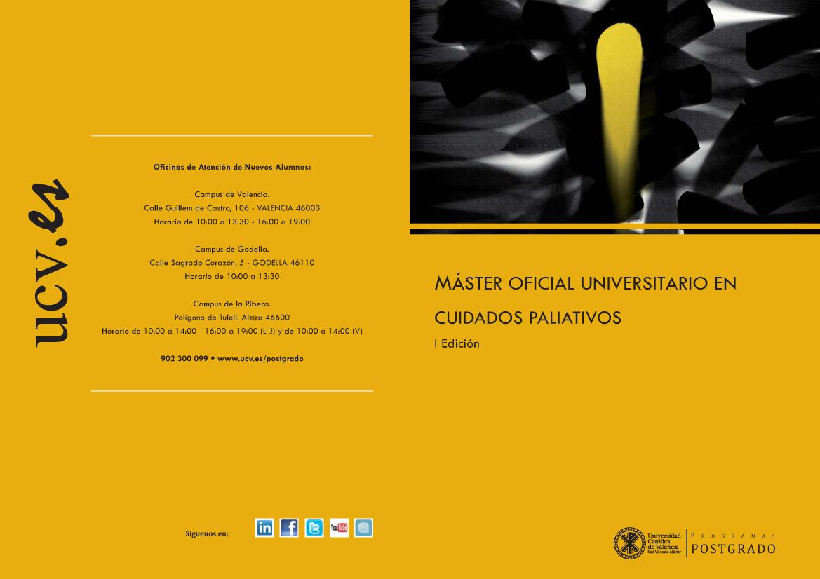 Novedad: Master Cuidados Paliativos